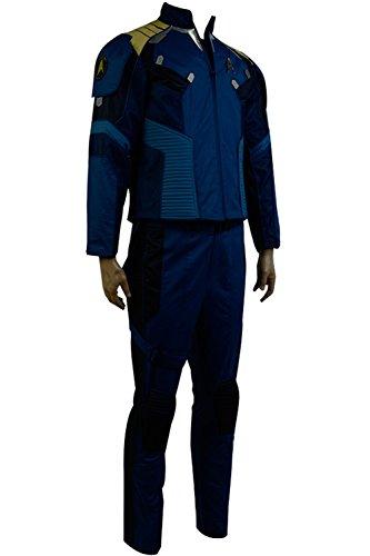 Star Trek Beyond Captain James T Kirk Cosplay Costume Outfit Suit Blue Uniform (Captain Kirk Outfit)