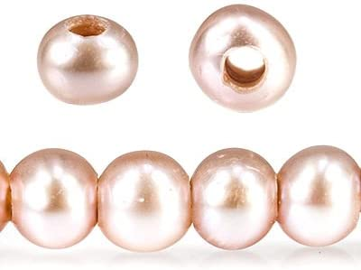 6-7mm sale Pink Ice Large Hole Off Freshwater 2.5mm Pearl Drill Round 25% OFF