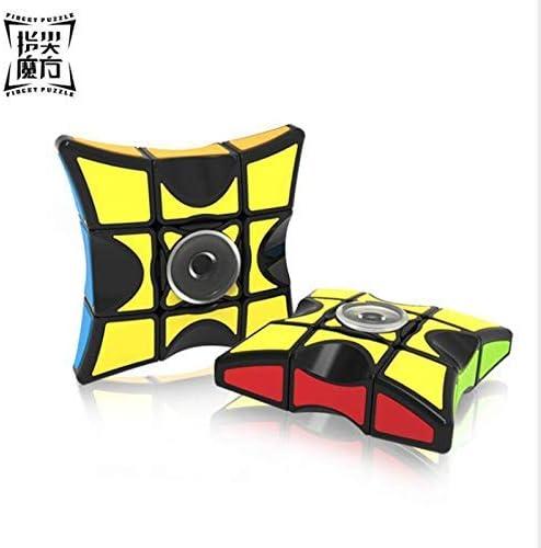 Shivsoft Anti-Stress Fidget Spinner Magic Cube 1X3X3 Mini Puzzle Speed Magico Cubo