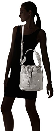 LYDC G1702 - Bolsos bandolera Mujer Plateado (Silver)