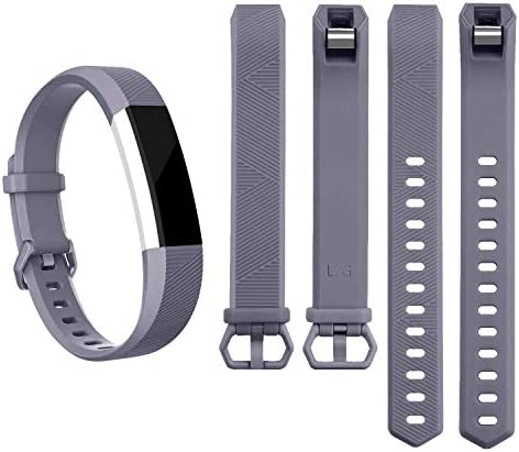 Pack 3 Replacement Band Compatible for Fitbit Alta Bands/Fitbit Alta HR Bands, Adjustable Replacement Soft Silicone Sport Bands for Woman and Men (Large, Black+Grey+Navy Blue) 4