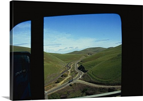 mium Thick-Wrap Canvas Wall Art Print entitled Valley viewed from the window of a truck, Alameda County, California 24