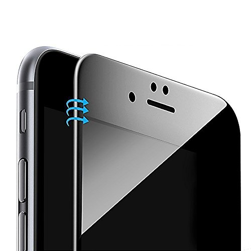 Plus Comprehensive Coverage - Vintar [3D Full Coverage] Privacy Screen Protector for iPhone 8 Plus/iPhone 7 Plus, 9H Anti-Spy Tempered Glass Screen Protector, (Black)
