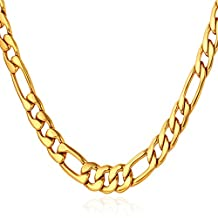 Men's Stainless Steel 5MM Figaro Chain Necklace,18-30""