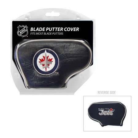 Team Golf NHL Winnipeg Jets Golf Club Blade Putter Headcover, Fits Most Blade Putters, Scotty Cameron, Taylormade, Odyssey, Titleist, Ping, Callaway