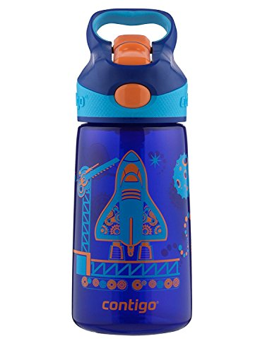 Contigo Autospout Straw Striker Kids Water Bottle 14 Oz