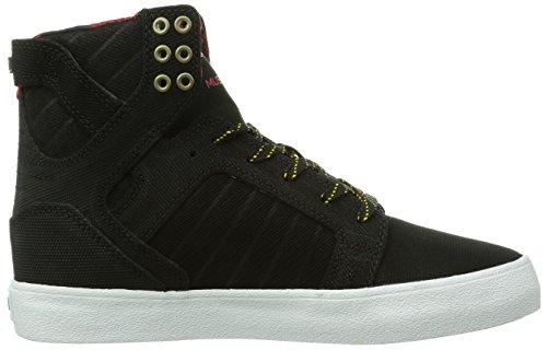 Unisex Bly black White Nero schwarz Skytop yellow Supra Sneakers OUqxwH7ngf