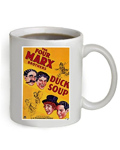 (Duck Soup Movie Poster Coffee Mug 11OZ. (The Poster is printed on both sides of the Mug).)