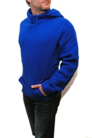 Ralph Lauren RLX Mens Lambswool Hoodie Hooded Sweater Sweatshirt Blue