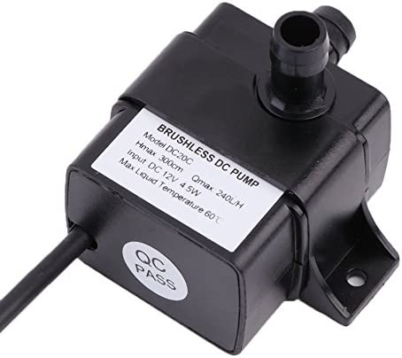 BlackUdragon AD20P 240L//H DC 12V 2 Phase CPU Cooling Car Brushless Water Pump Waterproof Low Power Consumption Water Pump