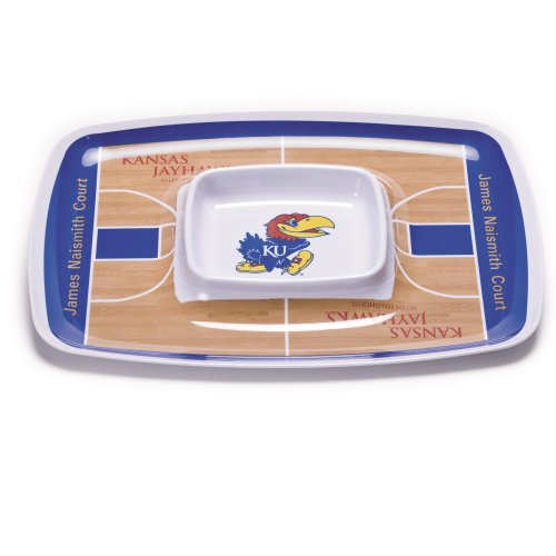 NCAA Kansas Jayhawks Melamine Chip and Dip Tray