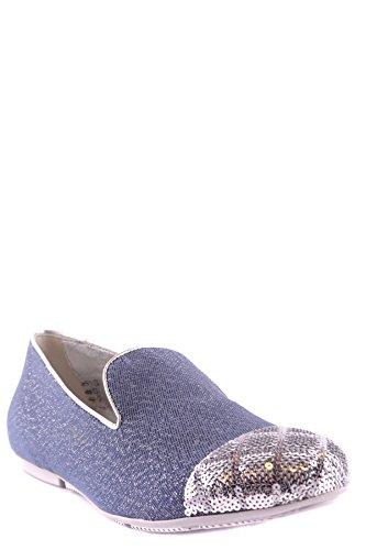 Hogan Bailarinas Para Mujer Plateado y Azul It - Marke Größe