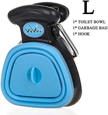 Portable Large Dog Poop Scoop with Waste Bag Dispenser,Yard Pooper Scooper,Handheld Scooper Blue S Gaetooely Travel Foldable Dog Pooper Scooper