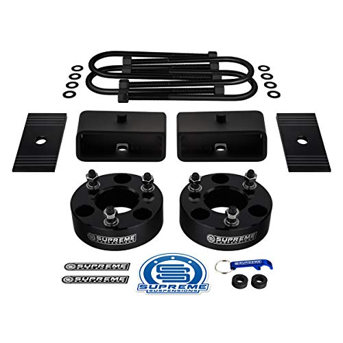Supreme Suspensions - Full Lift Kit for 2006-2008 Dodge Ram 1500 [4WD] Front Strut Spacers + Rear Lift Blocks + Round Bend U-Bolts + Axle Shims [3.5