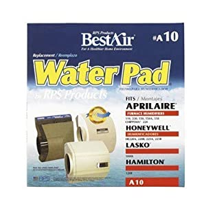 "BestAir A10, Aprilaire Replacement, Metal & Clay Furnace Humidifier Water Pad, 10"" x 10"" x 2"""