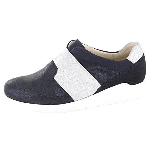 Waldläufer Women's Loafer Flats Dark Blue f2j6vWS3z