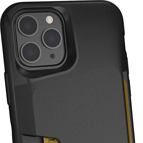 Smartish iPhone 11 Pro Max Wallet Case - Wallet Slayer Vol. 1 [Slim + Protective] Credit Card Holder (Silk) - Black Tie Affair