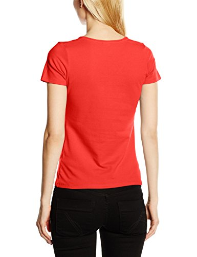 Fruit of the Loom SS082M, Camiseta para Mujer Rosso