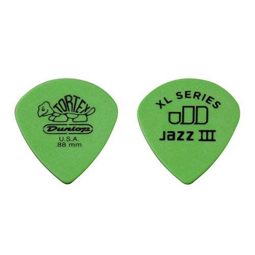 Jim Dunlop 498R088 Tortex Jazz III XL .88mm 72 Guitar Picks Refill Bag (Picks Guitar Bag 72)