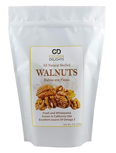 Golden Delights California Walnuts Halves and Peices (3 lb) NEW PRODUCT RELEASE!!,GIVEAWAY SALE!!