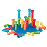 PlayMonster Lauri Tall-Stackers - Pegs and Pegboard Set