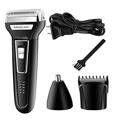 Professional 3 in 1 Twin Blade Electric Shaver Barber Travel Use Safe for Men Female Face Beard Shaving - Twin Professionals Bread