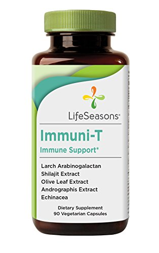 Immuni-T - Immune System Booster Supplement - Support Defense Against Cold and Flu - Stimulate Production of White Blood Cells - Rapid Immune Response - With Echinacea - LifeSeasons (90 (Herbal Supplements Immune System)