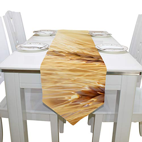 Yagqiny Handbags for Women Golden Wheat Field Cloth Cover Table Runner Tablecloth Kitchen Dining Room Home Decor Indoor 13x90 Inch Mens Totes