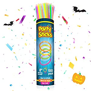 Best Epic Trends 41BhtGMoiTL._SS300_ PartySticks Glow Sticks Party Supplies 100pk - 8 Inch Glow in The Dark Light Up Sticks Party Favors, Glow Party…