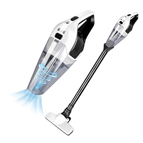 Handheld Vacuum Cleaner, Aiskki 2 in 1 Cordless Upright Handheld Vacuum Cleaner, 14.8V 8Kpa Quick Charge Wet & Dry for Home Hard Floor Cleaning Pet Hair