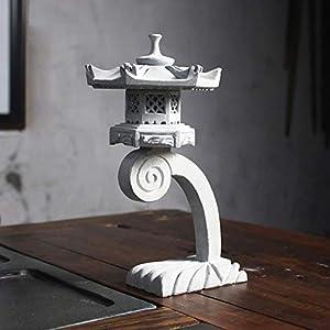 Stone Lantern Pagoda Garden Ornament Chinese/Japanese 22cm Sculpture Lantern Patio Decor