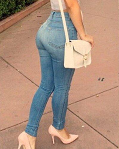 Femmes Jeggings Skinny Bleu Pantalon Jeans Leggings Pantalons Haute Taille Stretch Denim ZhuiKun Crayon wB8Y5qtq