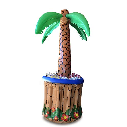 """GIFTEXPRESS 72"""" Inflatable Palm Tree Cooler, Tropical Hawaiian Theme Party Decor, Perfect for Pool Party Summer BBQ Party and Luau Tiki Party, 6 Feet Inflatable Bar Cooler for Tropical Party Decorations"""