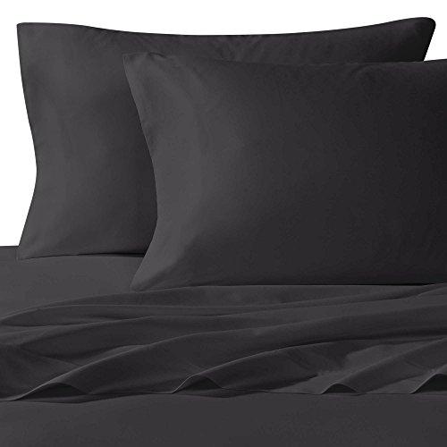 Hotel Comfort 100% Bamboo Luxurious Sheet Set Deep Pockets, Wrinkle & Fade Resistant, Hypoallergenic Sheet, Flat sheet, Fitted Sheet, Pillow cases (dark grey, Queen) Grey Bamboo