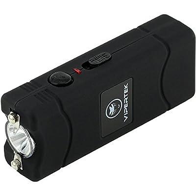 VIPERTEK VTS-881 - 38,000,000 V Micro Stun Gun - Rechargeable with LED Flashlight, Black
