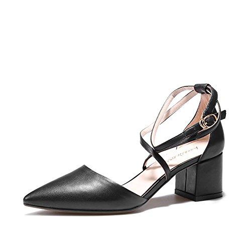 Heeled SHOESHAOGE Afin High Femme Baotou Chaussures Des Fait Sandales Femmes A EU34 Croix Bracelet 44qPWr
