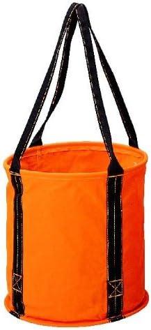 コヅチ(KOZUCHI) 6号防水帆布 大型電工用バケツ オレンジ 直径40×高さ40cm KB-02-40 BOR