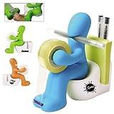 man on toilet tape dispenser - Butt Station Tape Dispenser, Pen & Memo Holder, Paper Clip Storage, Green