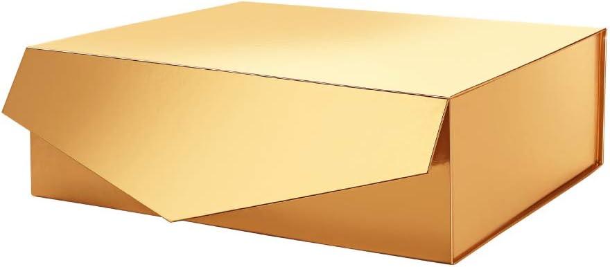 PACKHOME Caja de regalo de 14 x 24 x 4.5pulgadas, caja de regalo grande con tapa, caja de dama de honor, caja de almacenamiento resistente, caja de regalo plegable con cierre magnético (