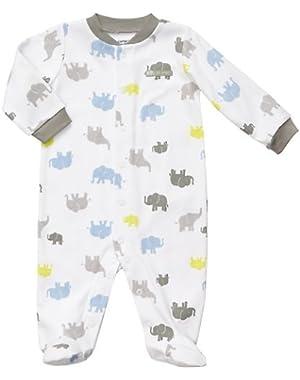 Carter's Baby Boy's Easy Entry Sleep N Play - Elephant