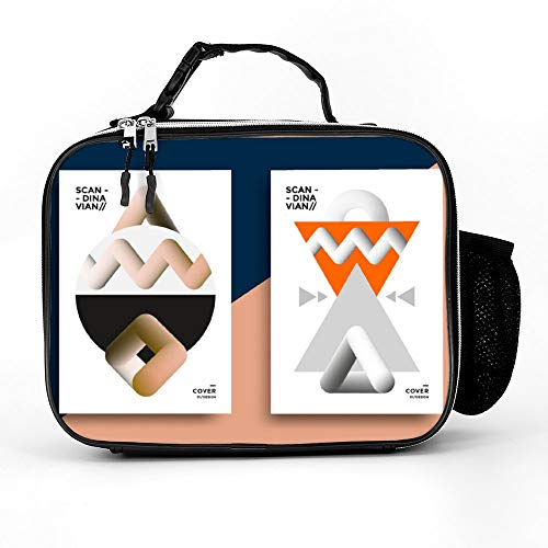 Welkoom Insulated Lunch Bag Lunch Box Cooler Bag With Printable Scandinavian Poster For Men Women]()