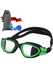 Focevi Simglasögon, simglasögon läcker inte anti-dimma UV-skydd triathlon simglasögon med gratis skyddsfodral för unisex vuxna män kvinnor ungdom