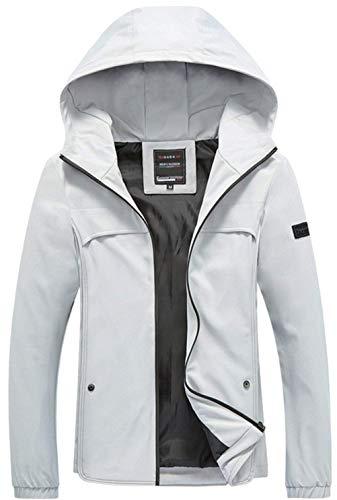 Cappuccio Con Top Da Moda Cerniera Slim Outdoor Manica Cappotto Bianca Lunga Varsity Sport Giacche Uomo Fit q6wWXWF7