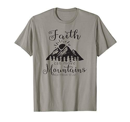 Christian Faith Can Move Mountains Jesus Bible Verse Prayer T-Shirt