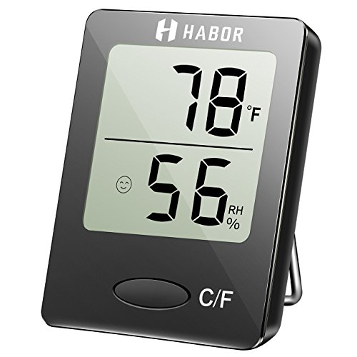 Clock + LCD Digital Hygrometer Humidity Thermometer Temperature Meter In/Outdoor - 3