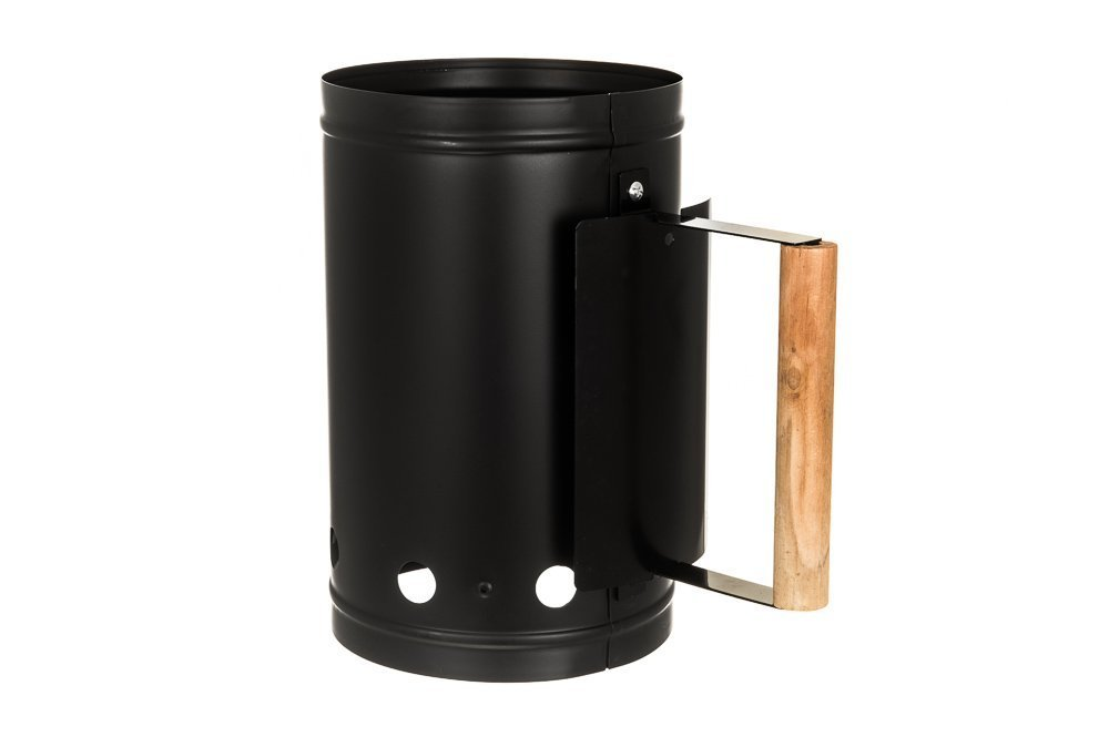 Facilitador de encendido para barbacoa de carbón, de LIVIVO®, kit de encendido rápido para briquetas y carbón vegetal, de acero galvanizado, para camping, ...
