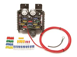 amazon com painless 50101 race car fuse block with 12 circuit rh amazon com Auxiliary Power Relay with Fuse Block Auxiliary Power Relay with Fuse Block