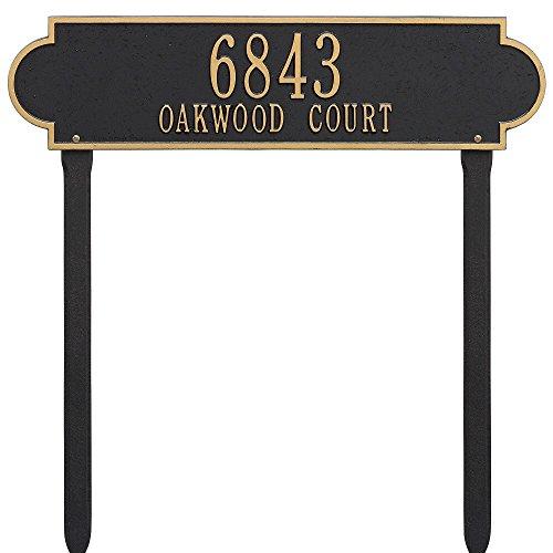 (Whitehall Custom Richmond Estate Lawn Address Plaque 25