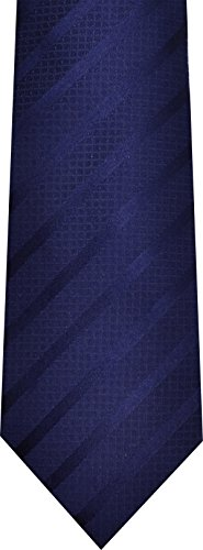 Sean John Mens Necktie stripe solid Blue