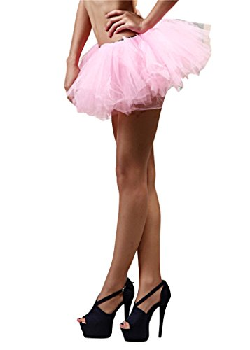 5 Layer Running Skirt, Dance Tutu, Dress Up, Fun Run 5K, Warrior Dash, Color Run (Pink) ()